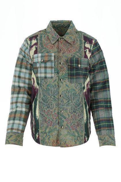 Printed nylon blend Integmos reversible shirt
