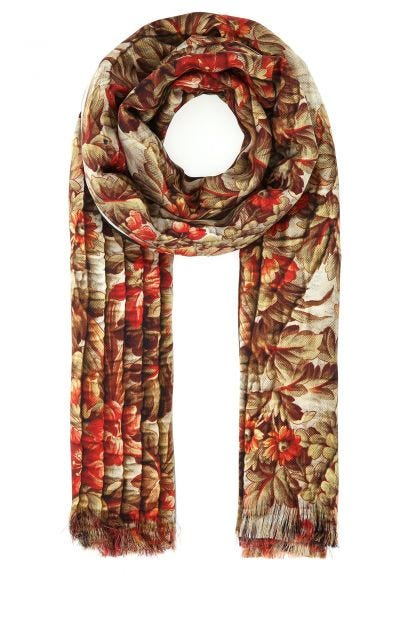 Printed silk Aloe Ultrawash foulard