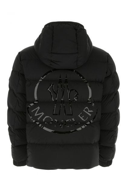 Black stretch nylon Pallardy down jacket