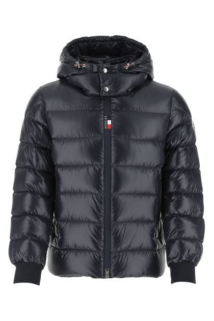 Midnight blue nylon Cuvellier down jacket