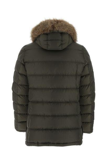 Army green nylon Cluny down jacket