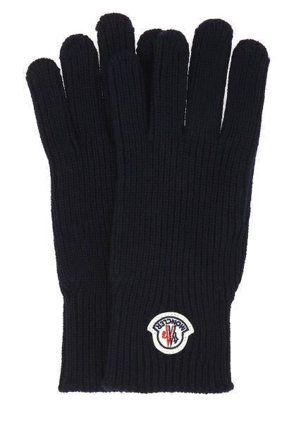 Midnight blue wool gloves