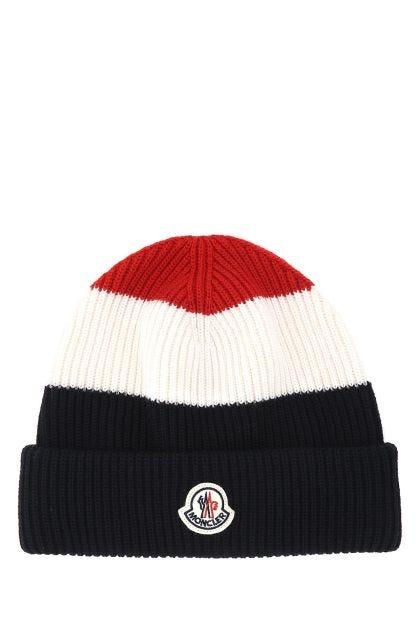 Multicolor wool beanie hat