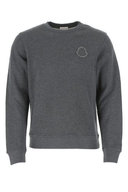 Dark grey melange cotton sweater