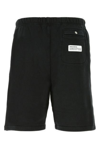 Black cotton bermuda shorts