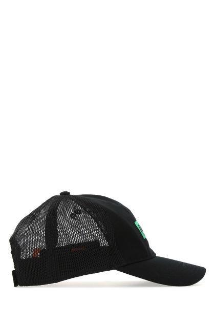 Black cotton and mesh Hp baseball cap