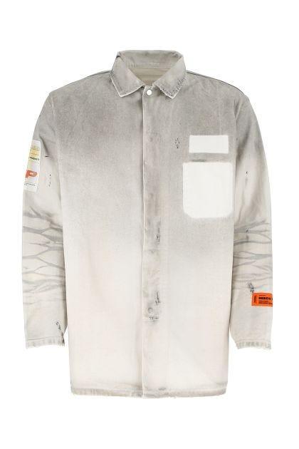 Two-tone denim shirt