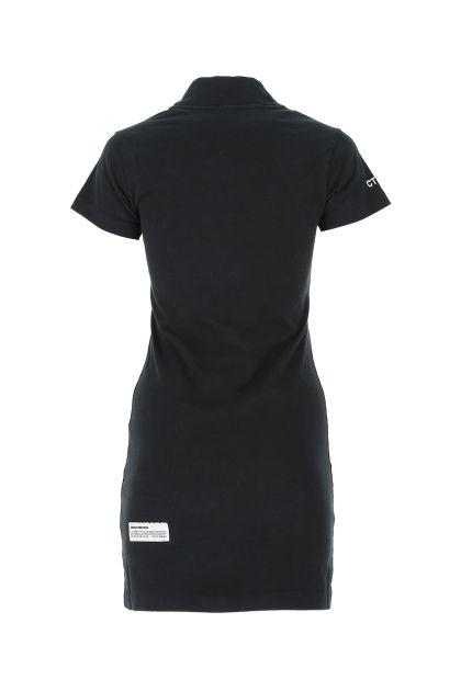 Black cotton minidress