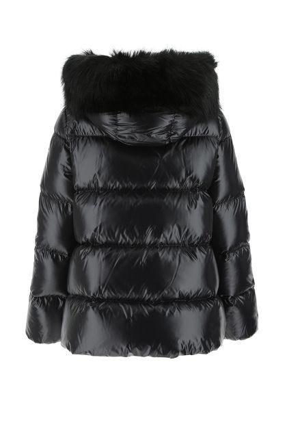 Black nylon Laiche down jacket