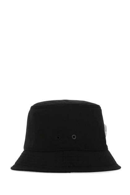 Black polyester blend hat