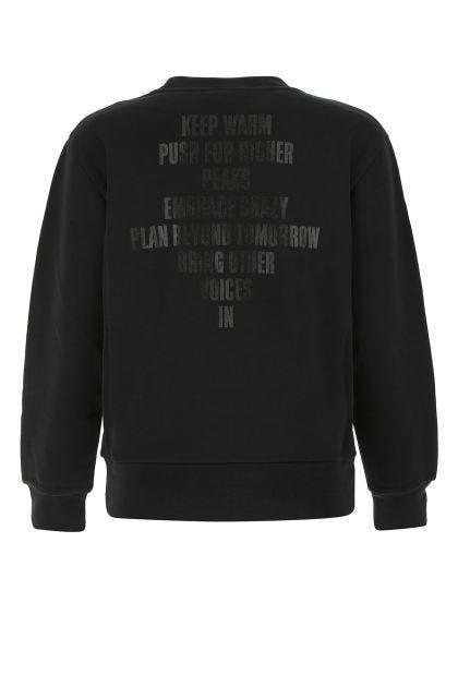 Black cotton blend sweatshirt