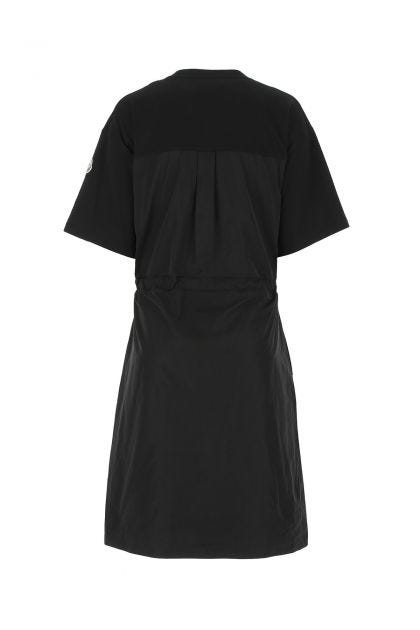 Black cotton and polyester t-shirt dress