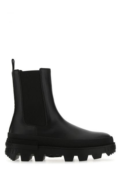 Black leather Coralyne ankle boots