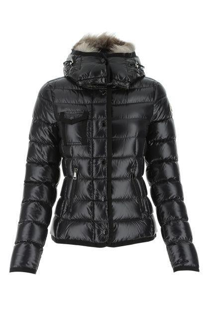 Black nylon Armoise down jacket