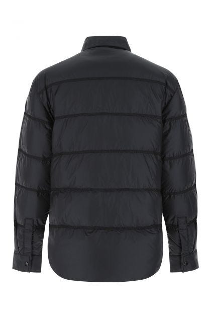 Black nylon padded shirt