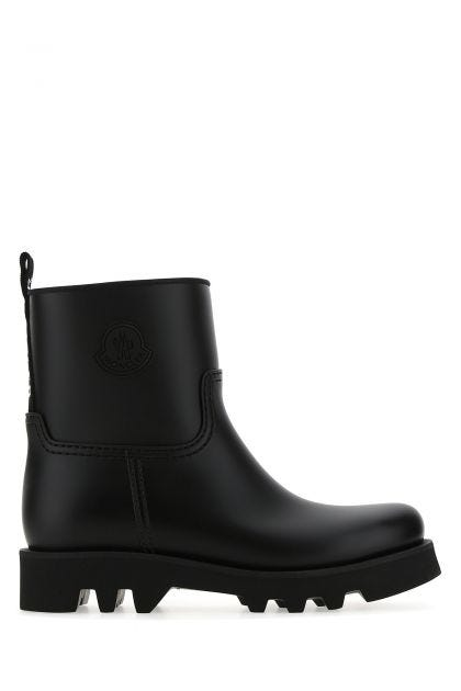 Black rubber Ginette ankle boots