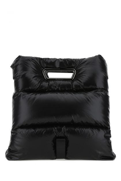 Black nylon Disk padded handbag