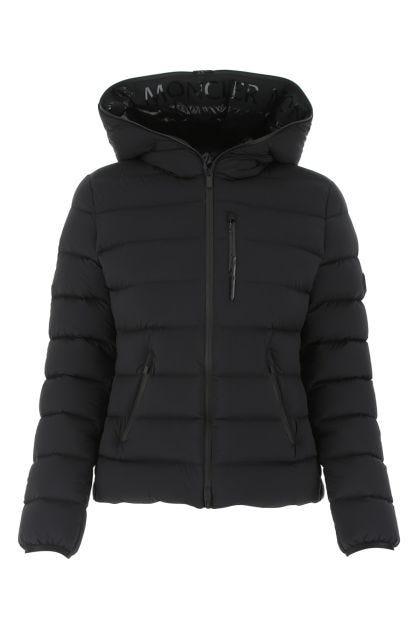 Black nylon stretch Herbe down jacket
