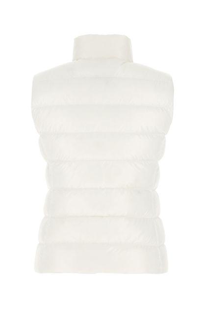 White nylon sleeveless Ghany down jacket
