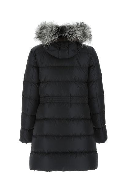 Black nylon Aphroti down jacket