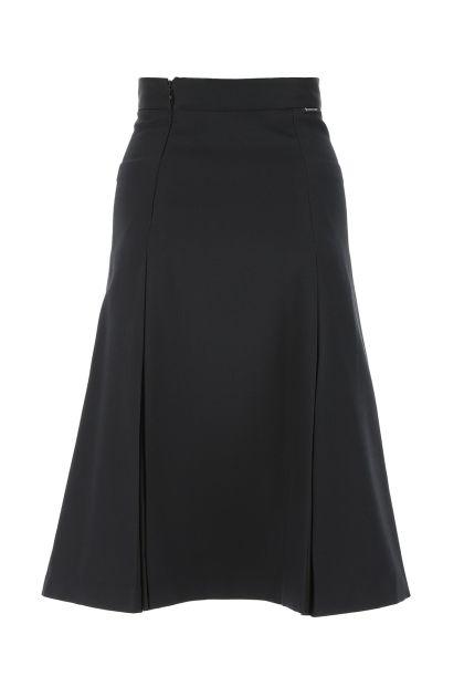 Black polyester blend skirt