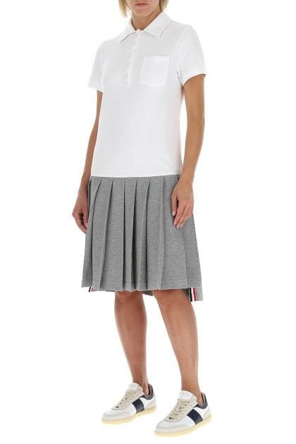 Two-tone piquet t-shirt dress