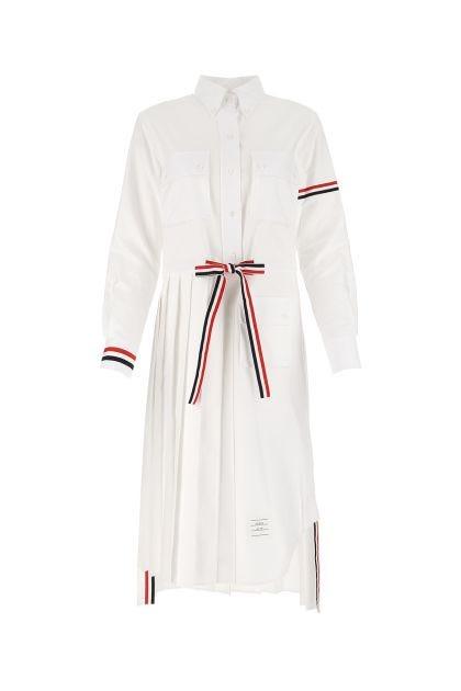 White cotton chemisier dress