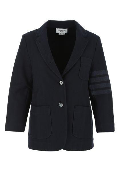 Midnight blue cotton blazer