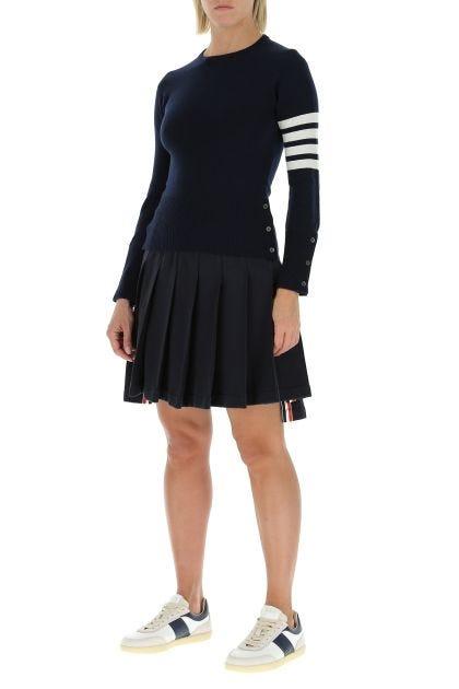 Minigonna in lana nera