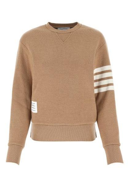 Biscuit stretch cashmere blend sweater