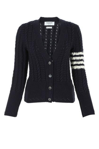 Navy blue wool cardigan