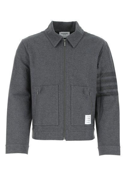 Dark gray cotton jacket