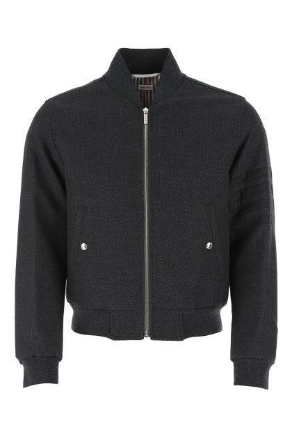 Charcoal wool bomber jacket