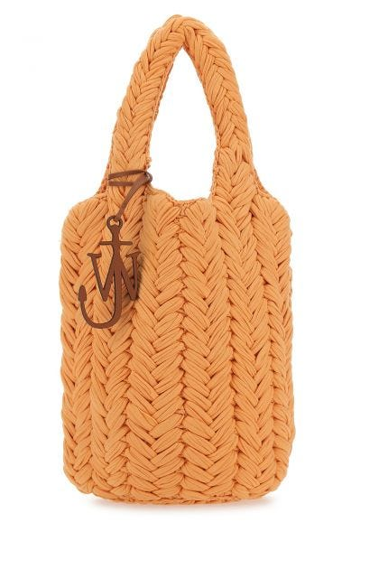 Orange fabric handbag