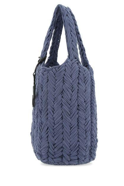 Air force blue fabric handbag
