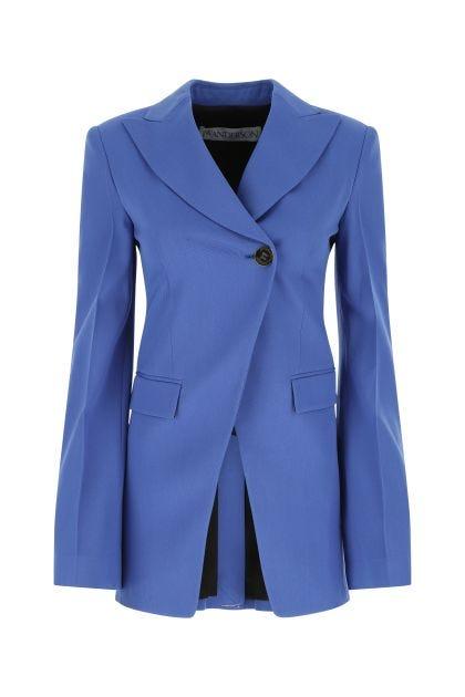 Turquoise stretch wool blazer