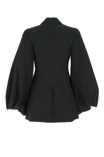 Black polyester blazer