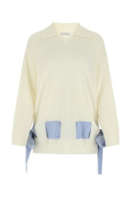 Ivory Merino wool oversize sweater