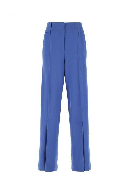 Turquoise wool wide leg pant