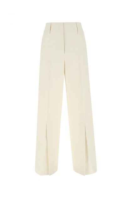 Ivory polyester wide leg pant