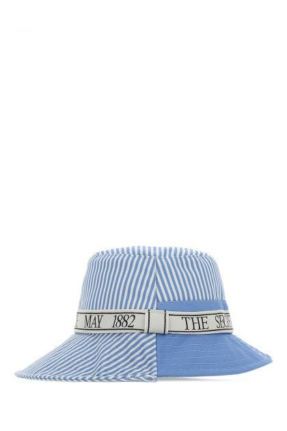 Two-tone polyester bucket hat