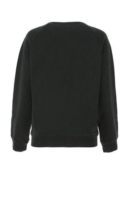 Black oversize cotton sweatshirt