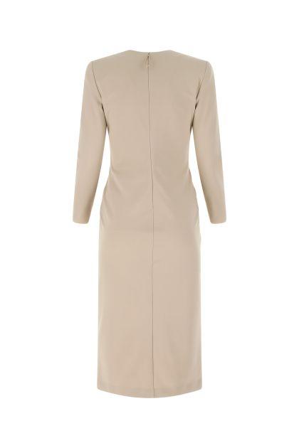 Cappuccino stretch viscose blend dress