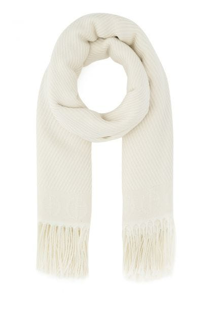Ivory wool scarf