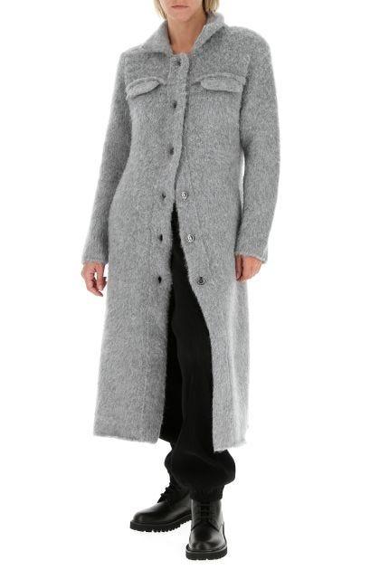Grey alpaca blend coat