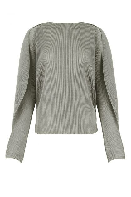 Grey polyester top