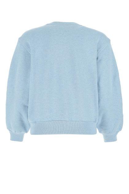 Melange blue cotton sweatshirt