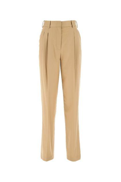 Camel wool blend pant
