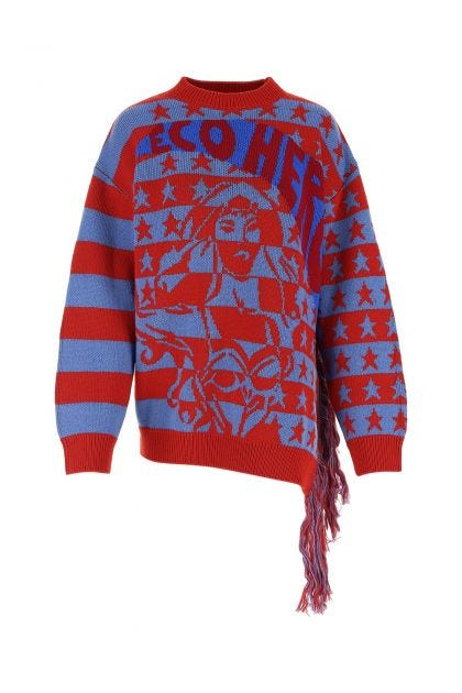 Embroidered wool Eco Hero sweater