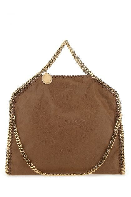 Brown shaggy deer Falabella Fold Over handbag